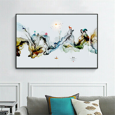 Abstract Ink Painting Canvas Picture Wall Hangings Home Art Decor Poster Print