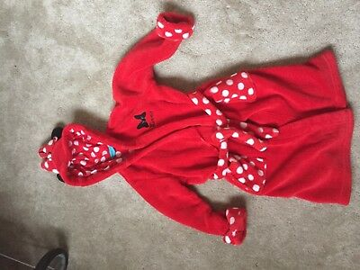 M&S Minnie Mouse dressing gown/Bath robe aged 18 months- 2 years