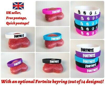 2/3/4/5/6/10pcs Fortnite Rubber Silicone Wristband Bracelet Party Bag Fillers UK