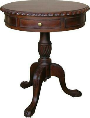 Solid Mahogany 2 Drawer Regency Side Table Antique Reproduction T016