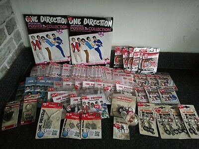 Job Lot One Direction Merchandise Collectable jewellery tattoos badges magazines