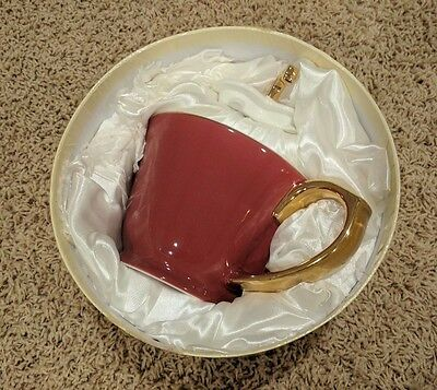 Yedi Houseware Inside Out Heart Collection Teapot 32 oz Cranberry Red/Platinum