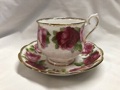 Royal Albert Old English Rose Cup & Saucer, Excellent!!