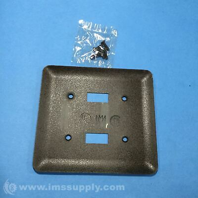 Mulberry Wallplate, 2 Gang, 2 Toggle Switch, Brown FNOB