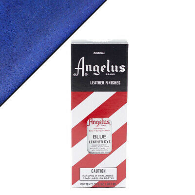 C--040 Angelus Permanent Leather Dye With Applicator 3Oz Blue