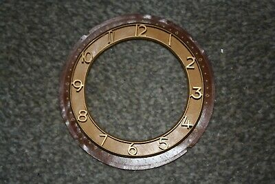 "Vintage Smiths 4.5"" mantel clock dial/face/chapter ring for spares/repairs/parts"