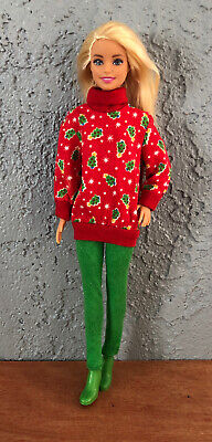 Barbie Doll In Christmas Clothes Lot