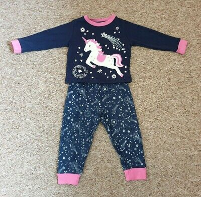 Jojo Maman Bebe Unicorn Pyjamas 18-24 Good Used Condition