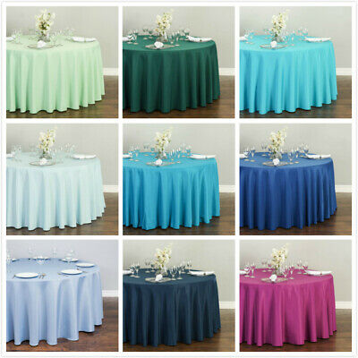 Bargain Sale 120 in. Round Polyester Tablecloth Wedding Event Party - Very New