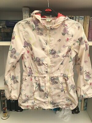 Girls Yumi Floral Raincoat Anorak Jacket 11-12 Years Vgc