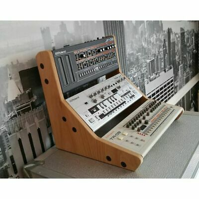 Synths & Wood Oak Veneered End Cheeks Triple Stand For Roland Boutique Series...