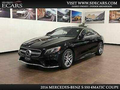 2016 Mercedes-Benz S-Class  2016 Mercedes Benz S550 4Matic Coupe Only 16k Pristine Sport Pack Driver Assist