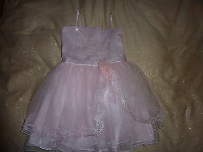 Popatu Designer Pink Organza Sequins Sparkly Party / Bridesmaid Prom Tutu Dress