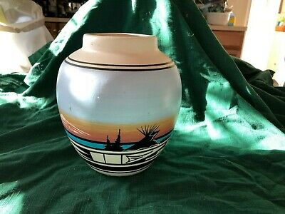 Vintage Large Native American Pot by Bell (Navajo)