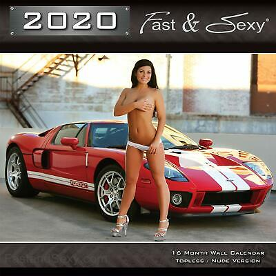 New 2020 Fast & Sexy Car Girl Wall Calendar Needed in Every Shop Garage Worth It