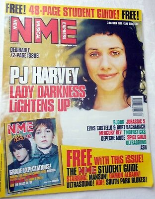 Nme 3 October 1998, Pj Harvey, Bjork, Jurassic 5, Elvis Costello, Mercury Rev