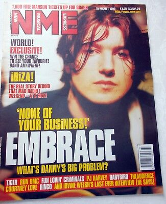 Nme 15 August 1998, Embrace, Pj Harvey, Fun Lovin' Criminals, Courtney Love