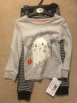 BNWT M&S Girls Halloween Pyjamas Age 2-3 Years