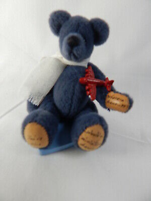 """World of Miniature Bears 2.75/"""" Cashmere Bear Solame #659 Collectible Bear"""