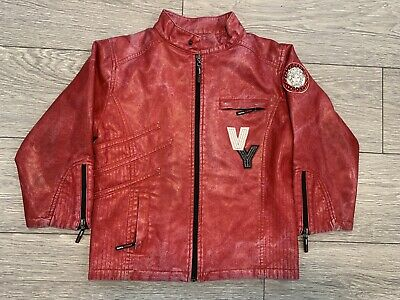 Vintage Versace Young Leather Jacket