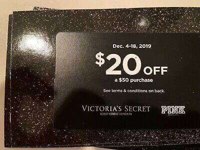 victoria secret pink coupon/ gift card