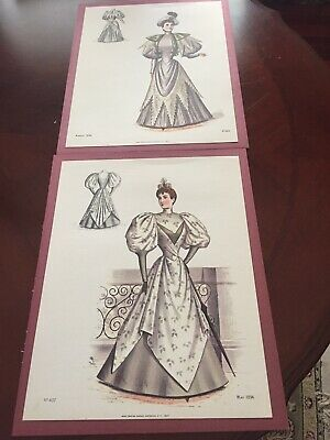 ANTIQUE 1890s  SEWING PATTERN BOOK REPRODUCTION Pictures