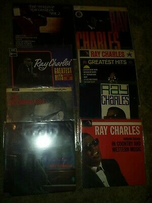 Ray charles. A collection of 8 lp records