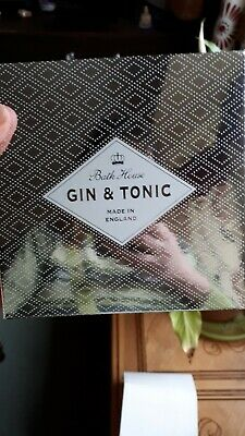 4 bath house gift set gin and tonic scented in silver box