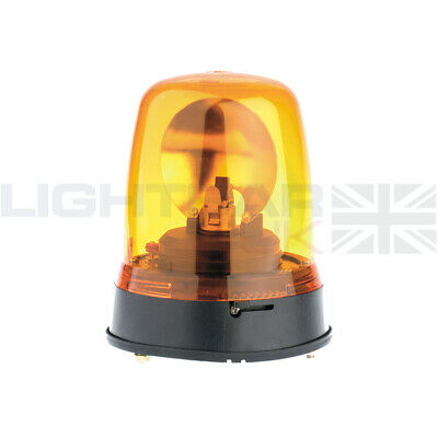 Britax 3 Bolt Permanent Mount Agriculture Halogen Rotating Flashing Amber Beacon