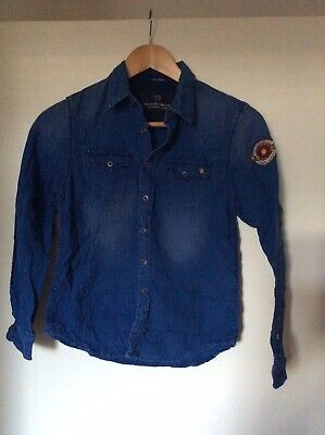 Boys Ligh Denim Long Sleeve Shirt Scotch Shrunk 10 Years Old