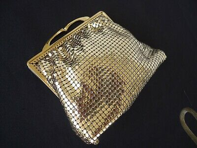 vintage retro gold glomesh purse / bag great condition