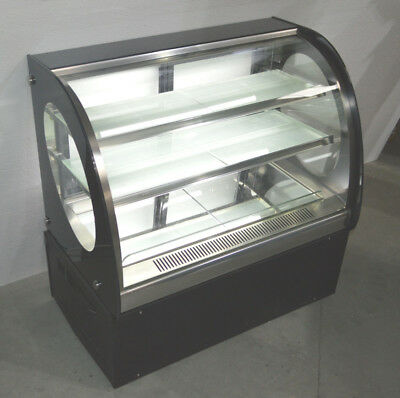 Commercial Curved Cake Showcase Glass Refrigerated Display Case 220V:Floor Model