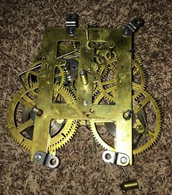 ANTIQUE Sessions Mantle Clock Movement With Bell