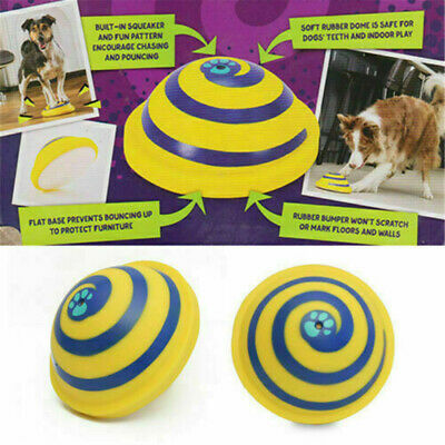 For Woof Glider Squeaky Dog Toy Sounding Disc Safe Fun Play All Dog Training UK