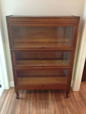 Antique Oak 5 Piece 3 Stack Macey Stacking Bookcase Barrister