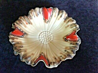 Vintage Art Deco Ceramic Bowl. Retro Floral 1930's Design