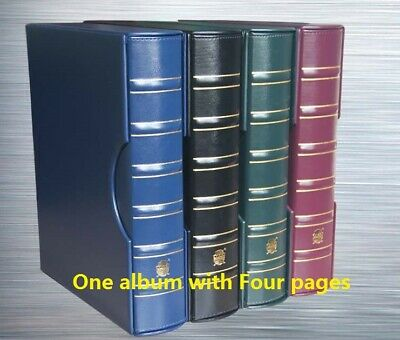 Ring Binder Album for NGC PCGS Slab Plastic Coin Capsule Holders + 4 encap pages