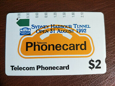 Used 1 Hole $2 Generic Phonecard Overprinted Sydney Harbour Tunnel Prefix 55