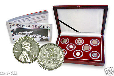Triumph & Tragedy The Second World War Pacific Theater Eight Coin  Box Set