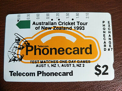 Used $2 Generic Phonecard Overprinted Aust Cricket Tour of New Zealand Prefix 20