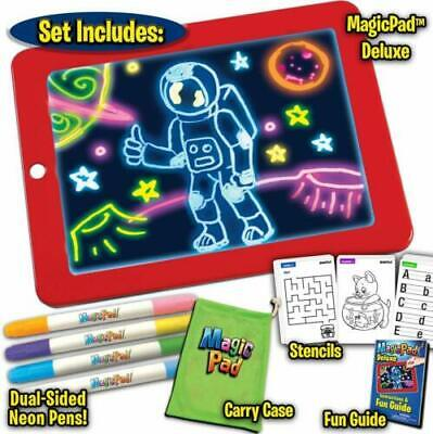 3D Magic Pad Light Up Drawing Pad with Neon Pens Creative Glow Art Light Effect