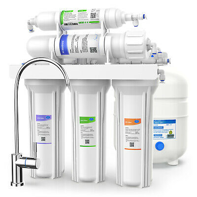 5Stage 75GPD Undersink Drinking Water RO Filter Purifier Ultra-Filtration System
