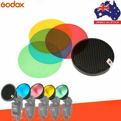 AU Godox AD-S11 Color Filter Gel Pack Honeycomb Grid for AD180 AD360 AD200 Flash