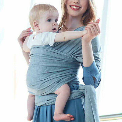 Adjustable Newborn Sling Carrier Infant Baby Toddler Cotton Stretchy Wrap Pouch
