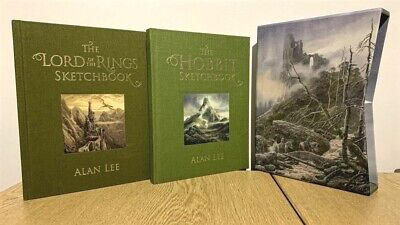Alan Lee THE HOBBIT / THE LORD OF THE RINGS Sketchbooks DELUXE SIGNED Tolkien
