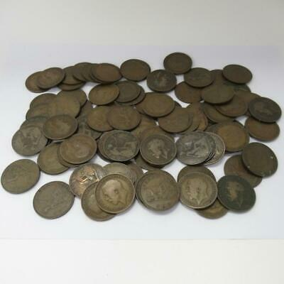 Collection of Vintage One Penny British Coins  - Weight 788g - Approx 85 Coins