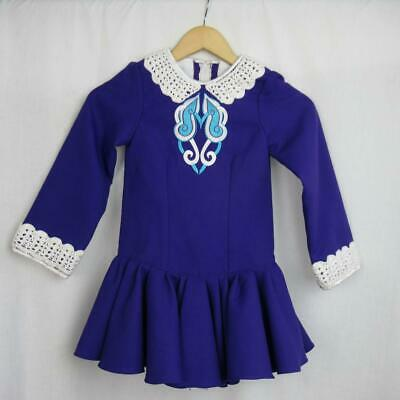 Girl's Irish Dancing Dress Purple + Turquoise Tailor Made in Ireland Est 6-7 yrs