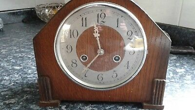 Wooden Cased Bentima Mantle Chiming Clock