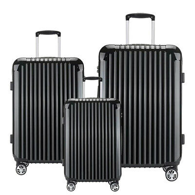 "20/24/28"" Hard Shell Travel Set Bag Trolley Spinner Suitcase Luggage Lightweight"