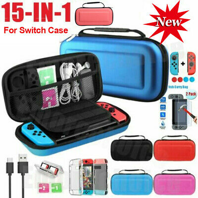 Hard Shell Travel Case Carrying Bag for Nintendo Switch,Cover,Screen Protector